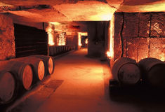 St emilion. Wine cellar st emilion gironde aquitaine france royalty free stock photos