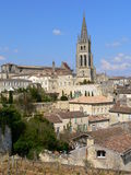 St. Emilion ( France ). View of the village of St. Emilion in Gironde Stock Photos