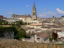 St. Emilion ( France ). View of the village of St. Emilion in Gironde Stock Image