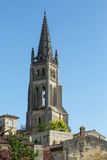 St. Emilion Monolithic Church Royalty Free Stock Image