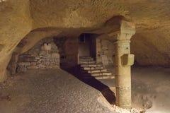 St Emilion Monolithic Church, intérieur photos stock