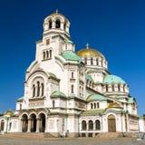 St.en Alexander Nevsky Cathedral royaltyfria foton