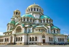 St.en Alexander Nevsky Cathedral i Sofia royaltyfria bilder