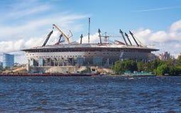 St en construction de stade PETERBURG - 2015 Photo stock