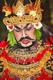 St?ende av den Jauk dansen en traditionell Balinesedans, Indonesien royaltyfri foto