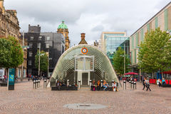 St. Enoch Square in Glasgow, Scotland. Glasgow, UK - September 12, 2016: St. Enoch Square with unidentified people. Its a public square situated at the junction Stock Photo