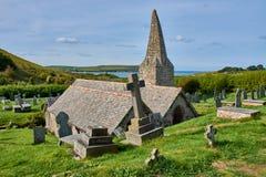 St Enodoc d'église dans les Cornouailles du nord, Angleterre image stock