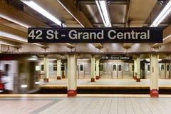 42 St - estação de metro de Grand Central Imagens de Stock