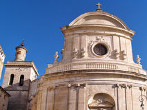 St.Etienne cathedral in Uzes. Provence, France Royalty Free Stock Photos