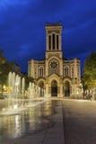 St Etienne domkyrka i Frankrike Arkivbild