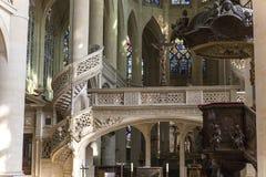 St Etienne du mont kyrka, Paris, Frankrike Arkivfoton
