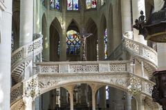 St Etienne du mont kyrka, Paris, Frankrike Royaltyfri Foto
