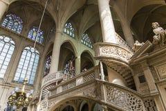 St Etienne du mont kyrka, Paris, Frankrike Royaltyfri Fotografi