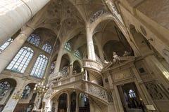 St Etienne du mont kyrka, Paris, Frankrike Arkivfoto
