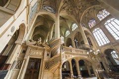 St Etienne du mont kyrka, Paris, Frankrike Royaltyfria Bilder