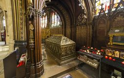 St Etienne du mont kyrka, Paris, Frankrike Royaltyfria Foton