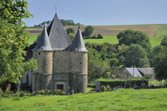 St etienne fortified church, sernion, ardennes Royalty Free Stock Photos