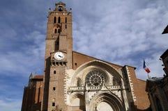 St Etienne kyrka i toulouse Arkivfoto
