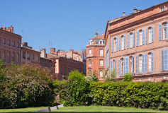 St. Etienne Square in Toulouse. Buildings on a square in Toulouse, France Stock Image