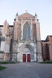 St.- Etiennekathedrale in Toulouse im Sommer Stockbilder