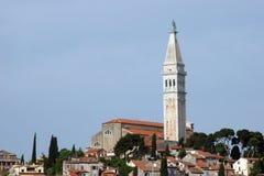 St. Euphemia Church, Rovinj. Old coastal city Rovinj in Croatia Stock Photos