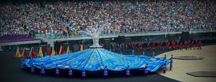 1st European Games 2015. James Harveys closing ceremony of the 1st European Games attracted 68,000 spectators in the newly built Olympic Stadium in Baku Royalty Free Stock Photos