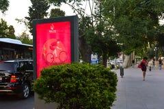 1st Europese Spelen 2015 affiche op straat Stock Afbeelding