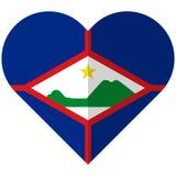 St. Eustatius flat heart flag Stock Photo