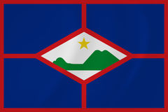 St. Eustatius waving flag Royalty Free Stock Photography