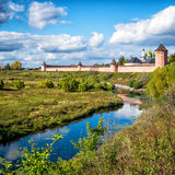 St. Euthymius Monastery in ancient town of Suzdal, Russia Royalty Free Stock Image