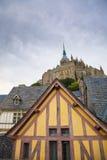 st för abbeymichel mont Royaltyfri Foto