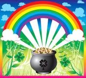 st för dagpatrick regnbåge s royaltyfri illustrationer