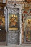 st för klosterbroder för barnabassymbolskloster Arkivbilder