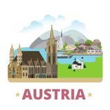 St för lägenhet för design för magnet för kyl för Österrike landsemblem royaltyfri illustrationer