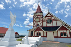 St Faith's Anglican Church in Rotorua - New Zealand. ROTORUA, NZL - JAN 11 2015:St Faith's Anglican Church.Rotorua is a major travel destination known for its Royalty Free Stock Images