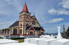 St Faith's Anglican Church in Rotorua - New Zealand. ROTORUA, NZL - JAN 11 2015:St Faith's Anglican Church.Rotorua is a major travel destination known for its Royalty Free Stock Image