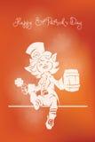 St felice accogliente Patrick Day del leprechaun Immagine Stock