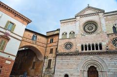 St. Feliciano Cathedral. Foligno. Umbria. Italien. royaltyfria foton