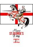 St feliz orgulloso George Day Retro Poster del soporte alto del soporte Foto de archivo