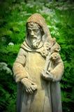 St Fiacre Statue Royaltyfria Foton
