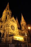 St. Fin Barre's Cathedral in Cork, Ireland at night Royalty Free Stock Photography