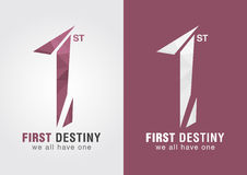 1st First destiny an icon symbol from letter alphabet number 1. Royalty Free Stock Image