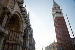St-fläckfyrkant i Venedig Italien arkivfoto