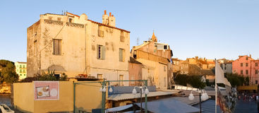St. Florent at evening light. Royalty Free Stock Photo