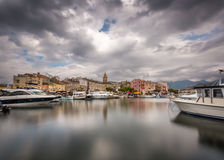 St Florent schronienie w północnym Corsica Obraz Royalty Free