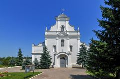 St Florian Catholic Cathedral - Shargorod, Ukraina Royaltyfri Fotografi