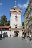 St. Florian's Gate in Krakow, Poland Stock Photos