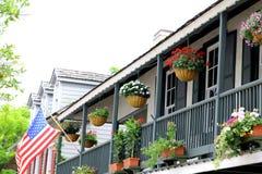 st florida augustine старый балкон городка города Стоковые Фотографии RF