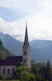 St. Florin's Parish Church in Vaduz Stock Photos
