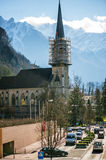 St. Florins Parish Church in Vaduz Royalty Free Stock Photo